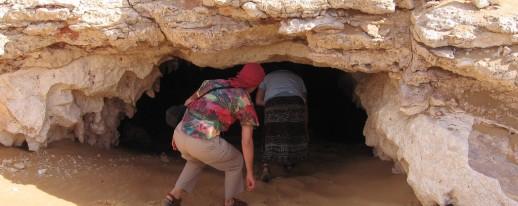 Egypt western desert Djara cave